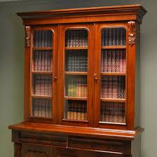 Mahogany Bookcase Quality Large Glazed Victorian Antique Mahogany Bookcase