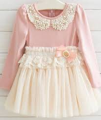 size 8 dress pink pearl lace collar dress tutu