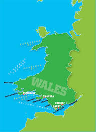 Map Of Wales And England by Go There Wales United Kingdom Grindtv Com