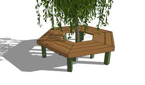 How To Build Outdoor Furniture by How To Build A Tree Bench Howtospecialist How To Build Step