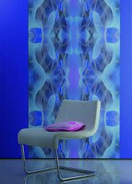 karim rashid non woven wallpaper globalove 55058 design blue