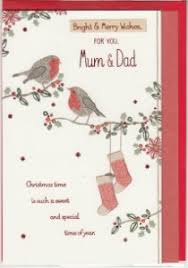 christmas mum and dad english greeting cards in france