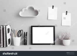modern home decor mock shelf cloud stock photo 554320234