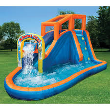 inflatable water slide bounce house giant swimming pool outdoor