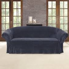 Plush Sofa Cover Sure Fit Stretch Plush Sable Sofa Slipcover Free Shipping Today