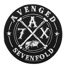 Avenged Sevenfold Flag Xlg Avenged Sevenfold A7x Band Logo Circle Sew On
