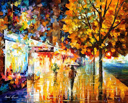 city movement u2014 palette knife oil painting on canvas by leonid