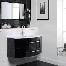 High Gloss Bathroom Furniture Hudson Reed Crescent Wall Hung Furniture Set High Gloss Black