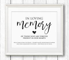 in loving memory wedding sign in loving memory wedding sign editable text personalize names