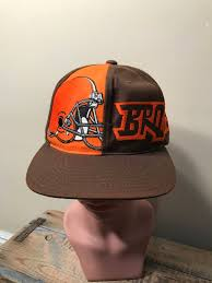 vintage cleveland browns snapback hat throwback 90s cap