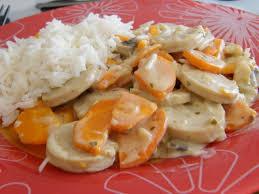 cuisiner boudin blanc blanquette de boudin blanc les délices de séverine