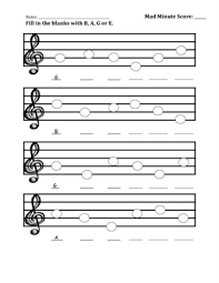 b a g e worksheet mad minute music idea recorders pinterest