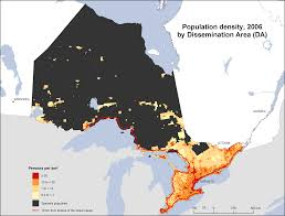 Population Map Population Density Ontario 2006