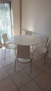 Docksta Table Ikea Docksta White Kitchen Dining Table And 4 Ikea Gilbert Chairs