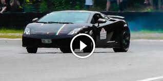 lamborghini gallardo sound lamborghini gallardo drifting on the track for the ears