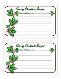 printable christmas recipe cards from the christmas cottage