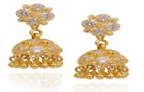 gold balls with studded gold jimmiki at rs 11623