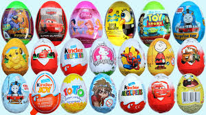 egg kinder 20 eggs kinder cars 2 spongebob disney