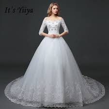 wedding frocks yiiya 2016 new high quality white handmade wedding gowns