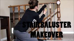 Banister Railing Code Diy Stair Railing Makeover Baluster And Newel Post Revamp Youtube