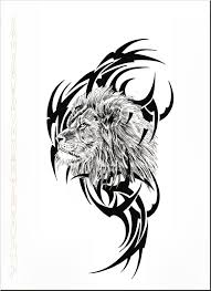 best tribal lion tattoo design tattooshunter com
