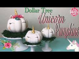 Dollar Tree DIY Unicorn Pumpkins No Carve Pumpkin Decorating