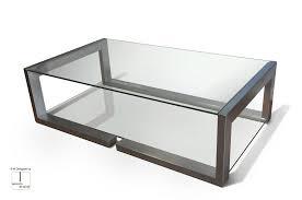contemporary coffee table glass square demi black gonzalo