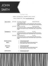 Free Printable Resume Templates Microsoft Word The 25 Best Free Printable Resume Ideas On Pinterest Resume