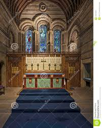 interior of a chapel with wood paneling stock photo image 47872860