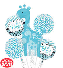 Wild Safari Blue Baby Shower by 16 Blue Wild Safari Baby Balloons Party City Bridal