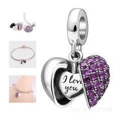 charm you bracelet images I love you sterling silver heart dangle charm pandora charms jpg