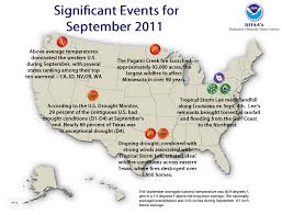 Weather Map Louisiana by National Climate Report September 2011 State Of The Climate
