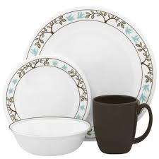 corelle tree bird dinnerware set 16pc walmart canada