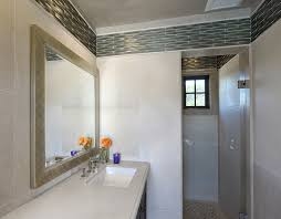 west elm accent with recessed lighting powder room beach style and