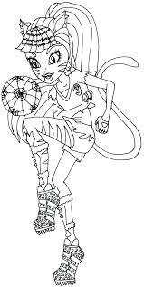 free printable monster high coloring pages toralei stripe ghoul