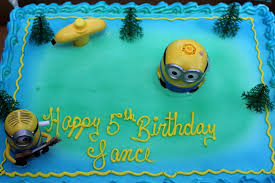 half sheet minion birthday cake yelp