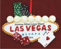 bright lights of las vegas personalized ornaments