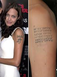 angelina jolie tattoo removal pictures to pin on pinterest