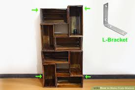 L Bracket Bookshelf How To Make Crate Shelves 15 Steps With Pictures Wikihow