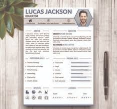 Stylish Resume Templates Word Resume Template Cover Letter Portfolio And By Wordresume On Etsy