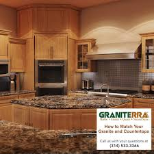 brown kitchen cabinets with backsplash how to match your granite countertops and cabinets graniterra
