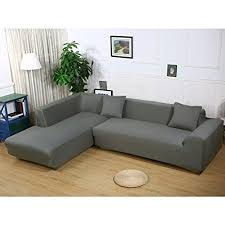 slipcover for sectional sofa with chaise l shape sofa covers sectional sofa cover 2 pcs stretch sofa
