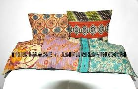 24x24 xl set of 5 pillow covers vintage kantha throw pillows for couch