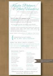 Cute Wedding Programs Wedding Ceremony Program Customize Your By Hydraulicgraphix