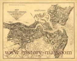 Charleston Sc Map Charleston Defenses In Civil War