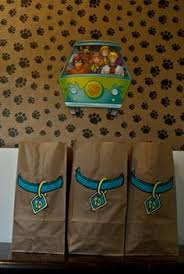 scooby doo wrapping paper scooby party paw prints and tie dyed rice krispies treats scooby