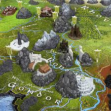 map from lord of the rings lord of the rings map of middle earth 3d puzzle thinkgeek