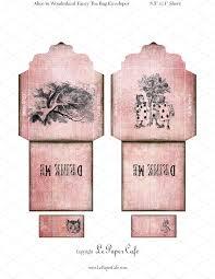 digital alice in wonderland tea bags objects creative market