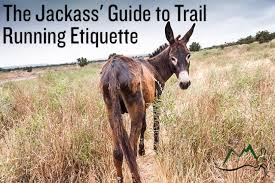 what is the proper etiquette when you run into one clown giving the guide to trail running etiquette rock creek runner