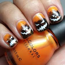 it u0027s getting close to halloween spooky faces manicure nails